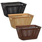 Essentials Tall Rectangular Slotted Plastic Baskets