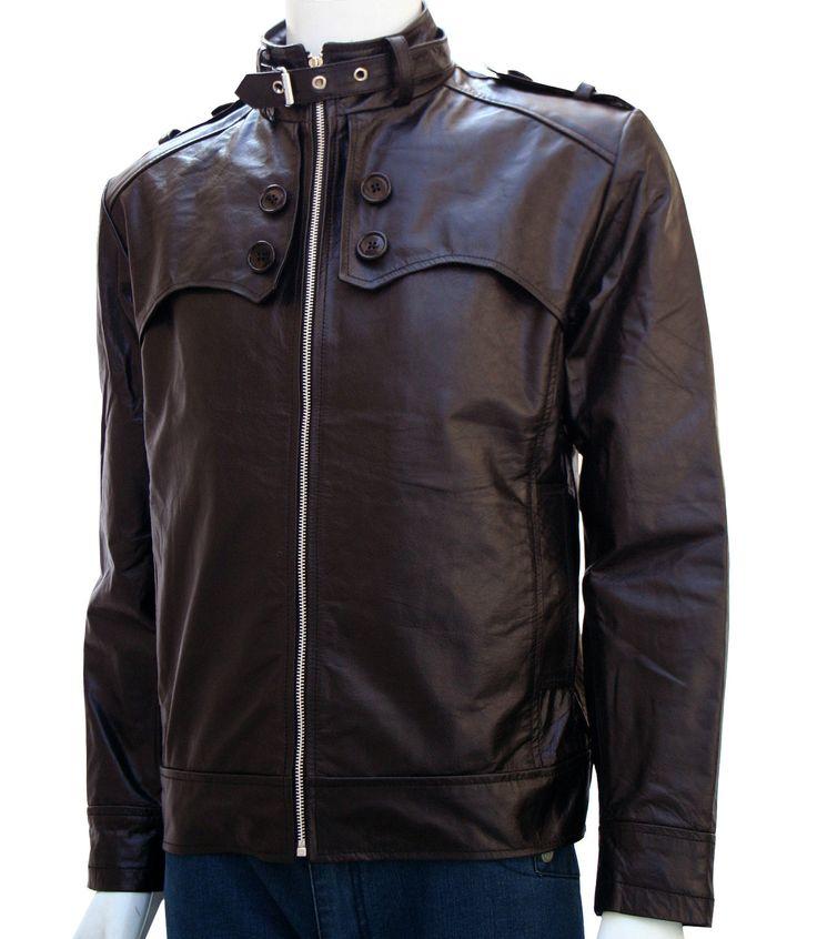 Men's Black Bike Leather Jacket