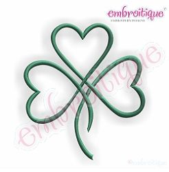 Satin Heart Shamrock Outline - 6 Sizes! | What's New | Machine Embroidery Designs | SWAKembroidery.com