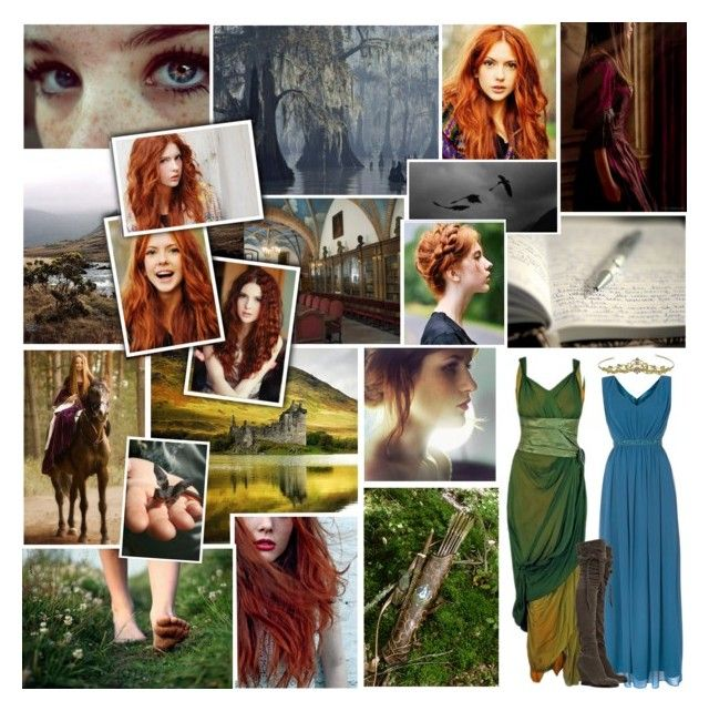 """(OC) Amara - Merida and Hiccup's Daughter"" by rainbowbaconcupcake ❤ liked on Polyvore featuring art"