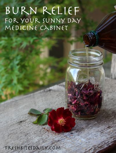 Sun burn and heat rash remedy — Rose. Yes, Rose :)  How to make Rose Infused Apple Cider Vinegar for soothing skin.