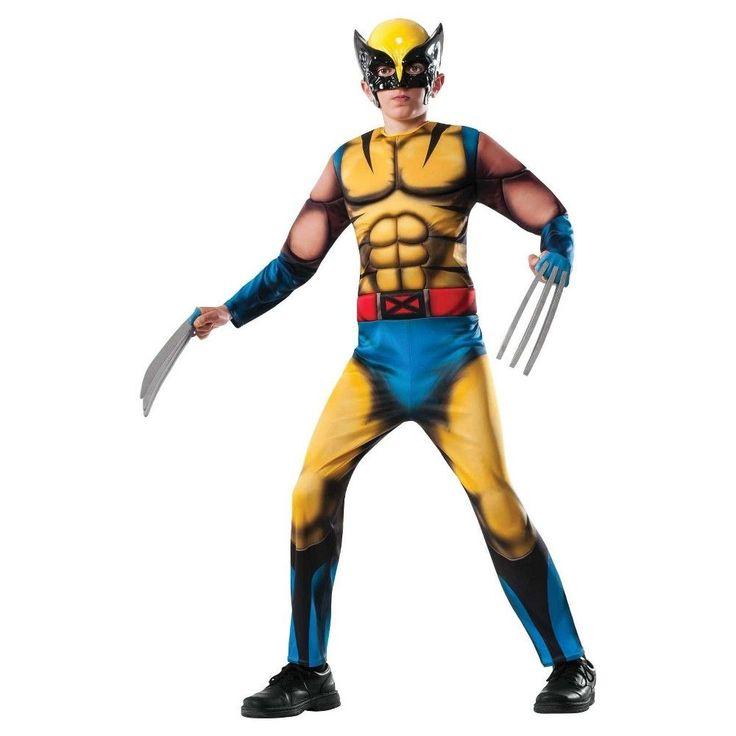 Marvel Boys' Wolverine Costume Large (12-14), Size: L (12-14), Variation Parent