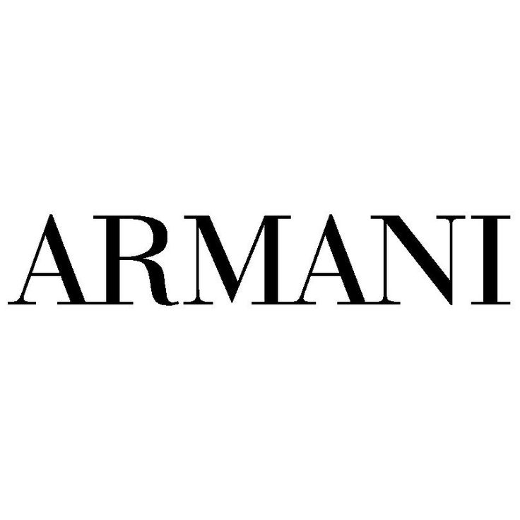 Armani logo  Formed in 1975 and named for the designer Giorgio Armani, Armani is a worldwide luxury brand, based in Italy. Armani has a number of apparel lines (Armani, Giorgio Arrmani, Emporio Armani , Armani Collezioni,Armani Jeans, Armani Junior, AX|Armani Exchange) as well as other lifestyle brand.    He is well known for his menswear and for his clean, tailored lines.