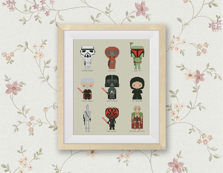 BOGO FREE! Star Wars Cross Stitch Pattern, Mini Pixel People Counted Cross Stitch Chart, Darth Vader, Storm, PDF Instant Download #015-5-3 by StitchLine on Etsy https://www.etsy.com/listing/287778323/bogo-free-star-wars-cross-stitch-pattern