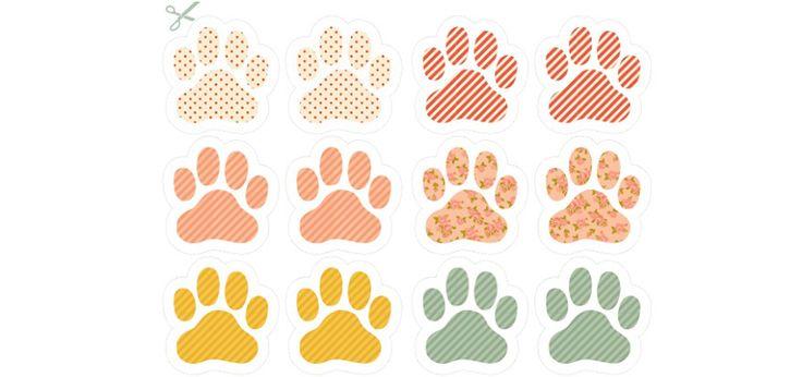 Traces de pas de lapins de Paques