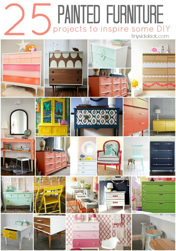 25 Painted Furniture Projects to Inspire: Such great inspiration for my next craigslist find! #paintedfurniture #furnituremakeover