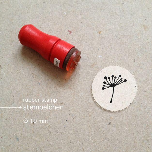 Mini Dandelion Rubber Stamp