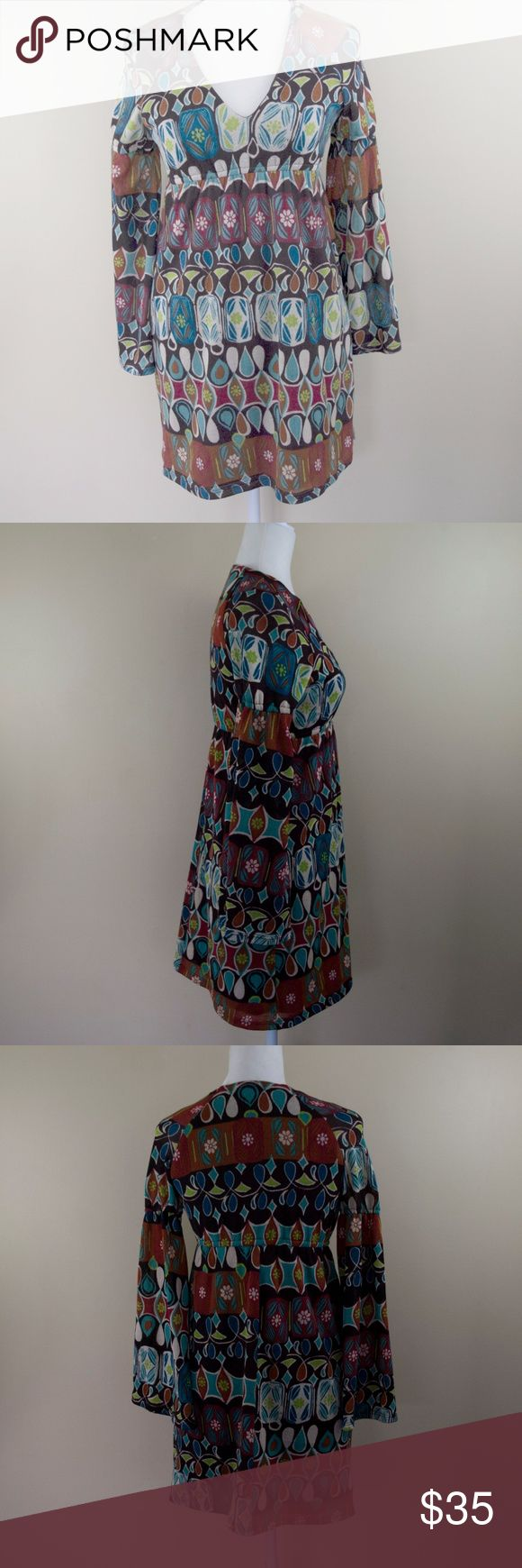 """Judith March brown fall colored bell sleeve dress Excellent condition, size Small. Armpit to armpit 17"""" Armpit down 26"""" Judith March Dresses"""