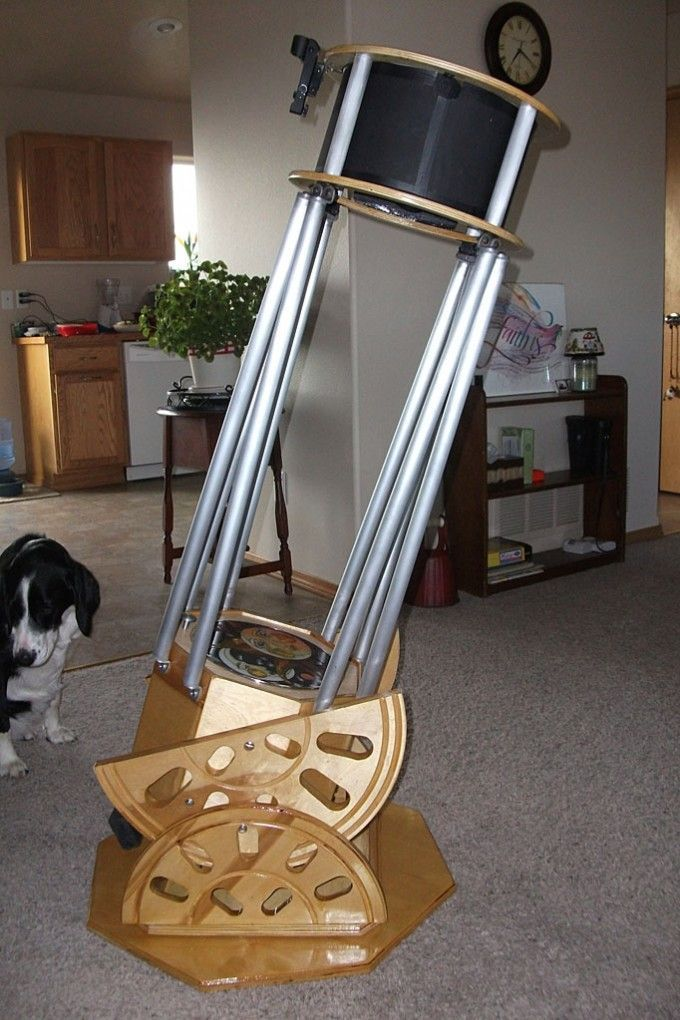 Homemade Dobsonian Telescope - #Dobsonian #Telescopes