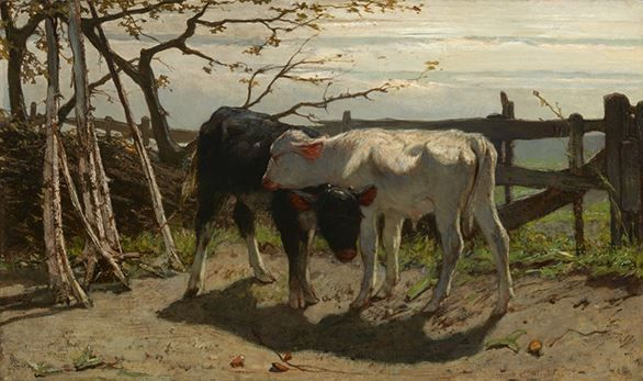 Willem Maris, The Calves, 1863 Dutch Art Courtesy of The Mesdag ...