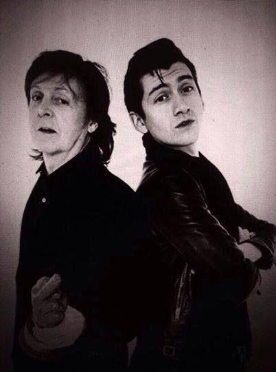 Paul McCartney and Alex Turner