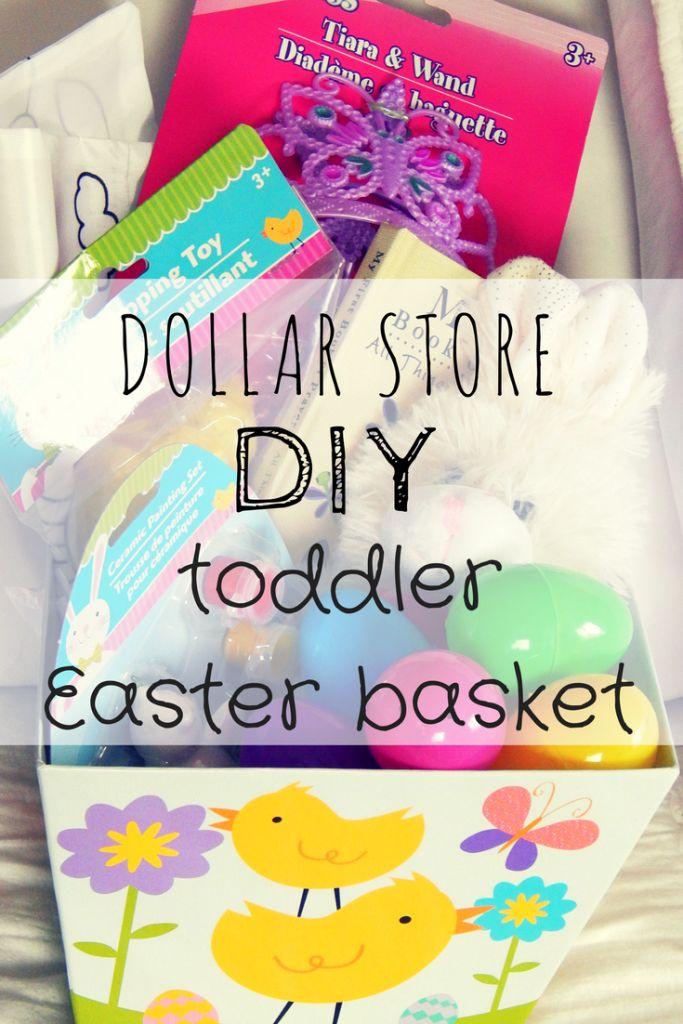 DIY dollar store toddler easter basket