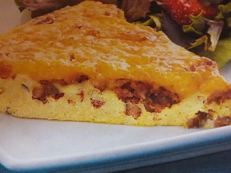 Frittata met gehakt en kaas