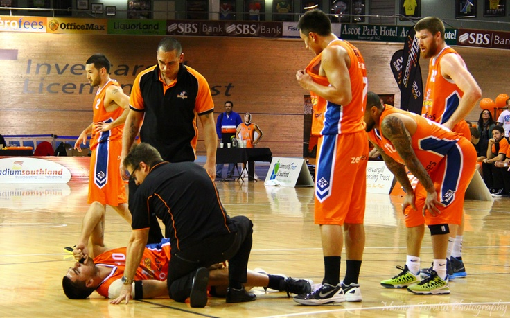 Not a good sight - Southland Sharks' Morgan Natanahira injured during the game on Saturday against the Hawks. Speedy recovery Morgan.