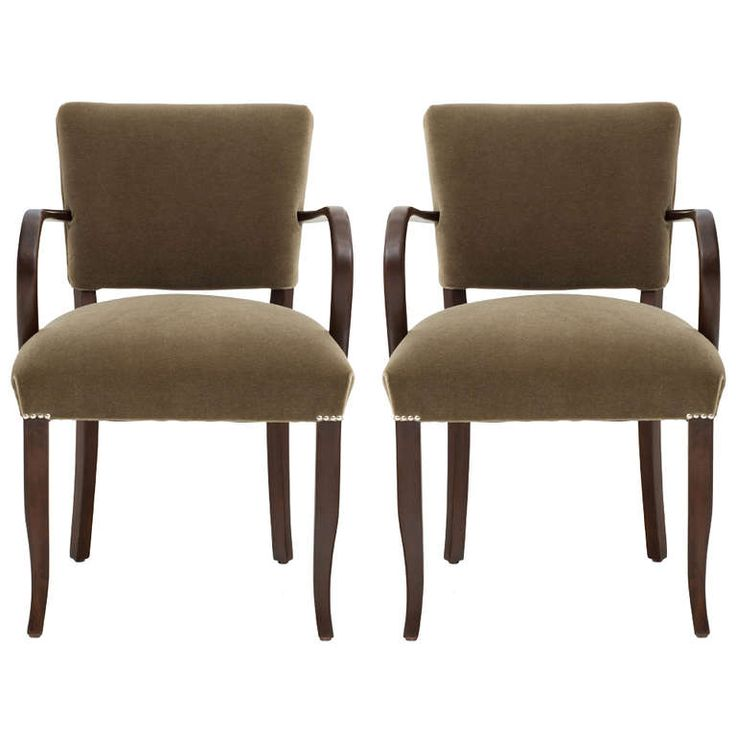 pair of french 1940u0027s arm chairs