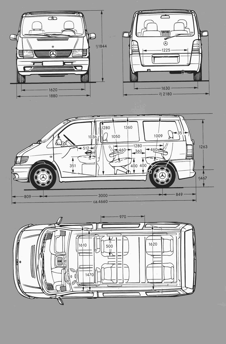 Mercedes-Benz Vito blueprint