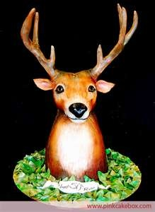deer cake: Cakes Decoration, Amazing Cakes, Deer Head, Cakes Boxes, Awesome Cakes, Deer Cakes, 50Th Birthday, Cakes Design, Grooms Cakes