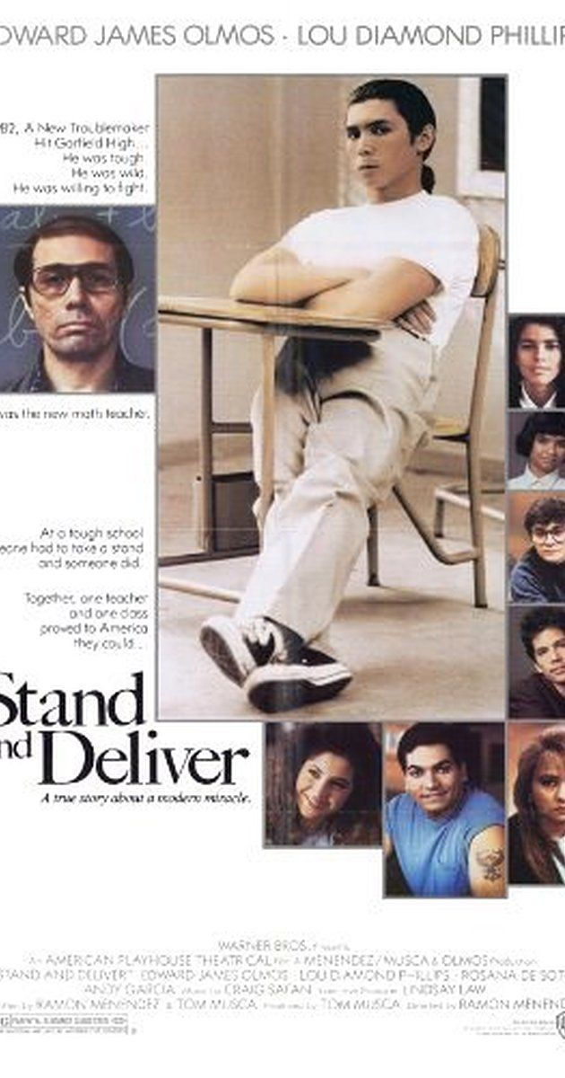Teacher movie: Directed by Ramón Menéndez.  With Edward James Olmos, Estelle Harris, Mark Phelan, Virginia Paris. The story of Jaime Escalante, a high school teacher who successfully inspired his dropout prone students to learn calculus.