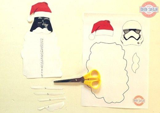Star Wars Adventskalender | Star Wars advent calendar DIY Christmas Craft - ein free Download als Vorlage von http://www.meinesvenja.de/2015/11/20/star-wars-adventskalender/ mit Darth Vader und Stormtrooper