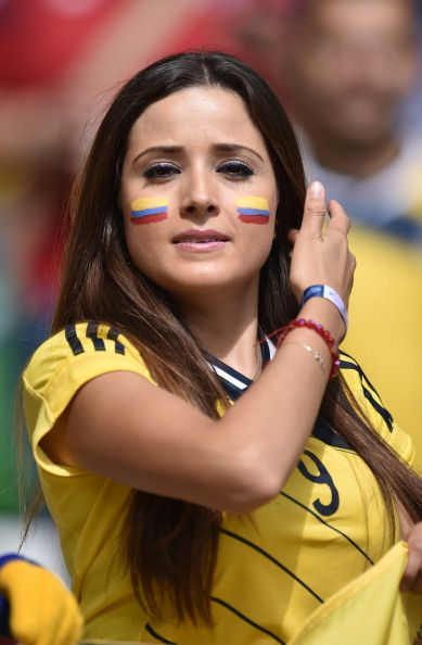Beautiful Colombia Fans At 2014 Worldcup Brazil -3552