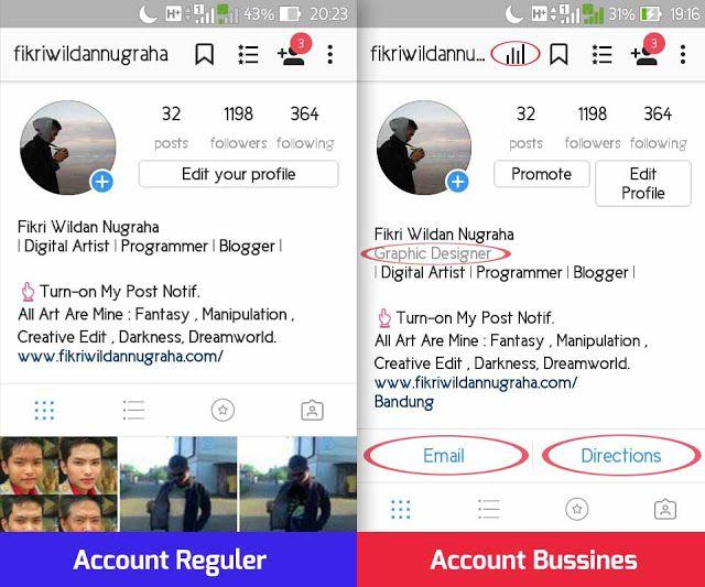Fikri Wildan Nugraha: Cara Menambahkan Pekerjaan, Tombol Kontak, dan Lokasi di Profil Instagram, memperbanyak like followers dengan bussiness Account auto bot akun bisnis verified email direction menarik