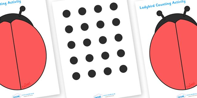 Twinkl Resources >> Ladybird Spot Counting Activity