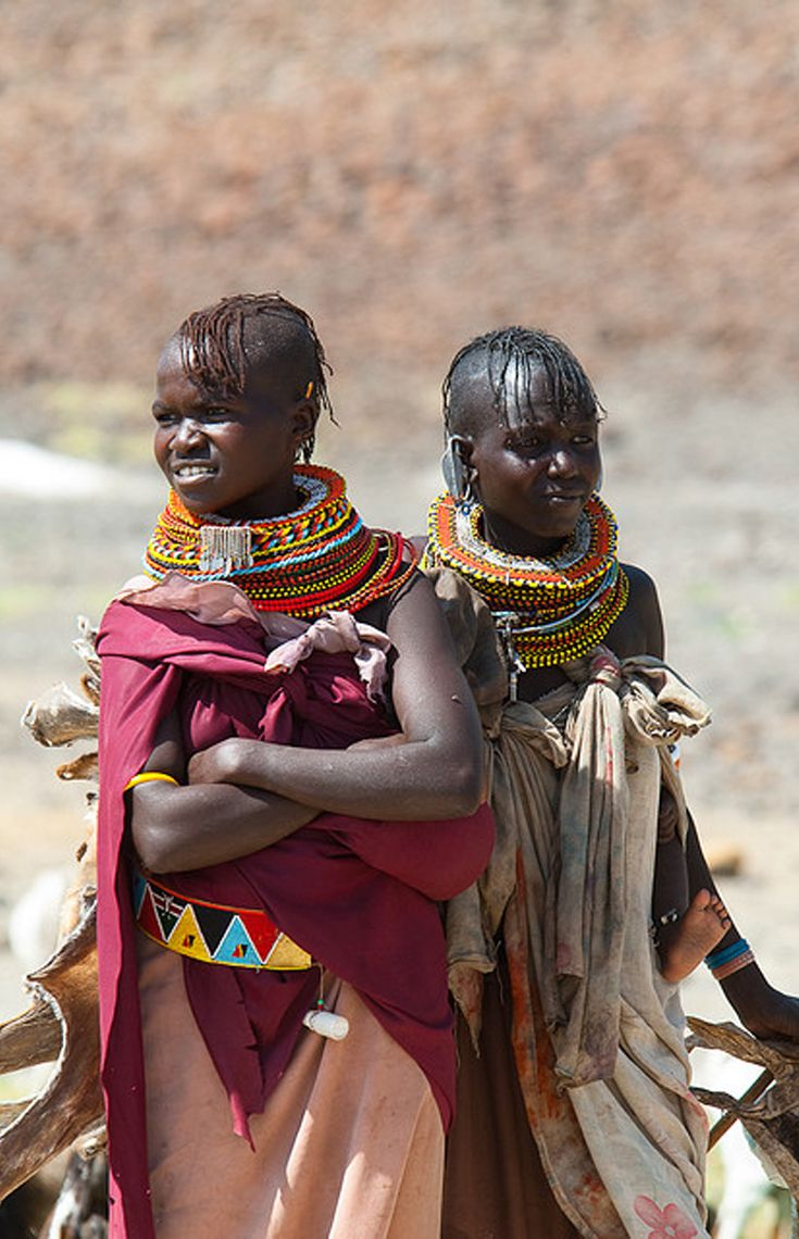 Africa | Turkana women.  Lake Turkana, Kenya | ©Guido Aldi