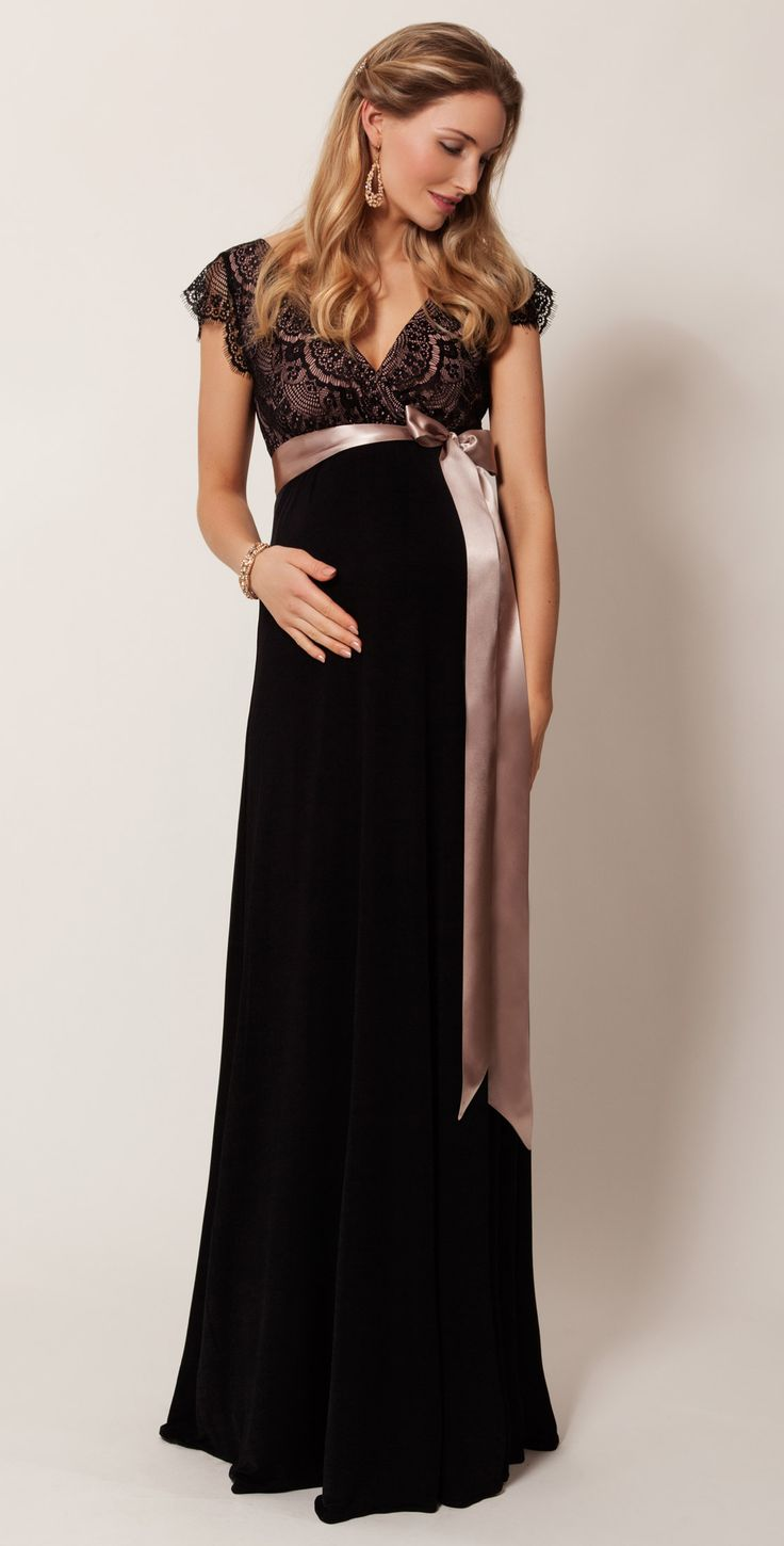 Rosa Maternity Gown Long (Vintage Blush) - Maternity Wedding Dresses, Evening Wear and Party Clothes by Tiffany Rose.