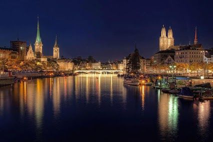 Zurich is a pretty city, but this is one of the best shots I've seen of it!