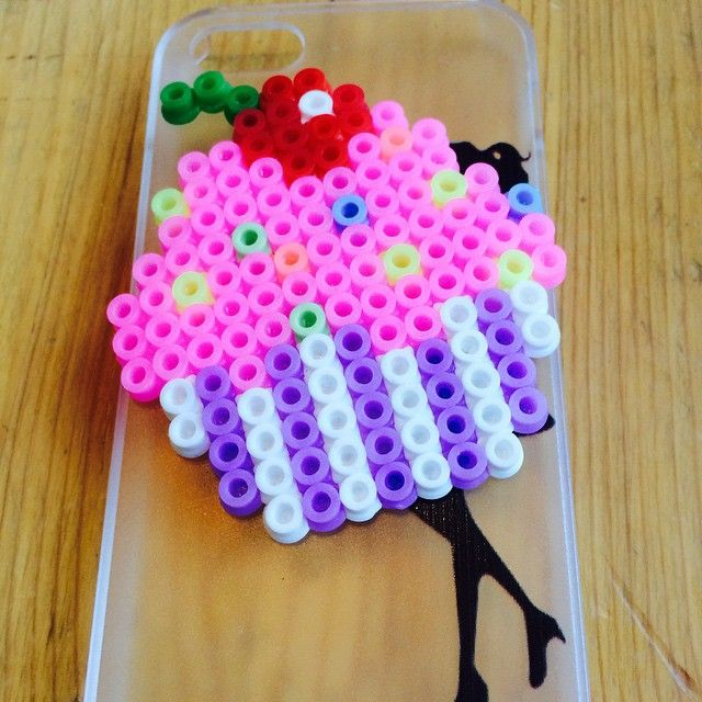 Cupcake perler beads by perler_queen_