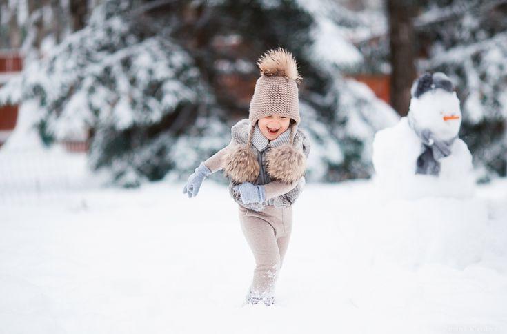 Зимние съемки - Зимина Клавдия. Детская фотография.