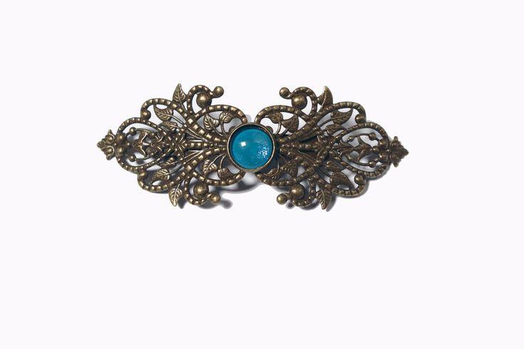 Haarklammern - Haarspange leuchtend blau - ein Designerstück von Tauna bei DaWanda