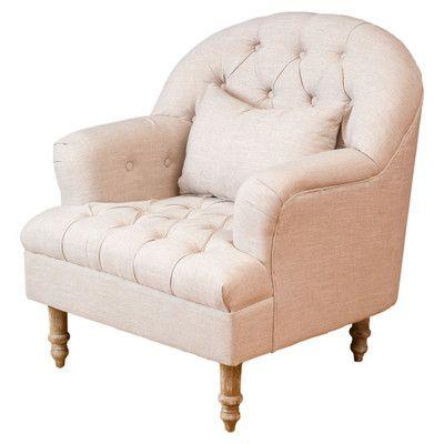 Darren Tufted Arm Chair & Reviews   Joss & Main