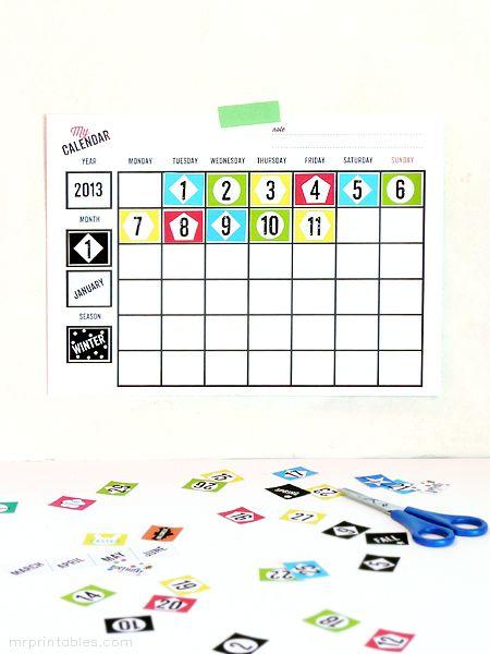 Printable Monthly Calendar For Kids : Best ideas about printable blank calendar on pinterest