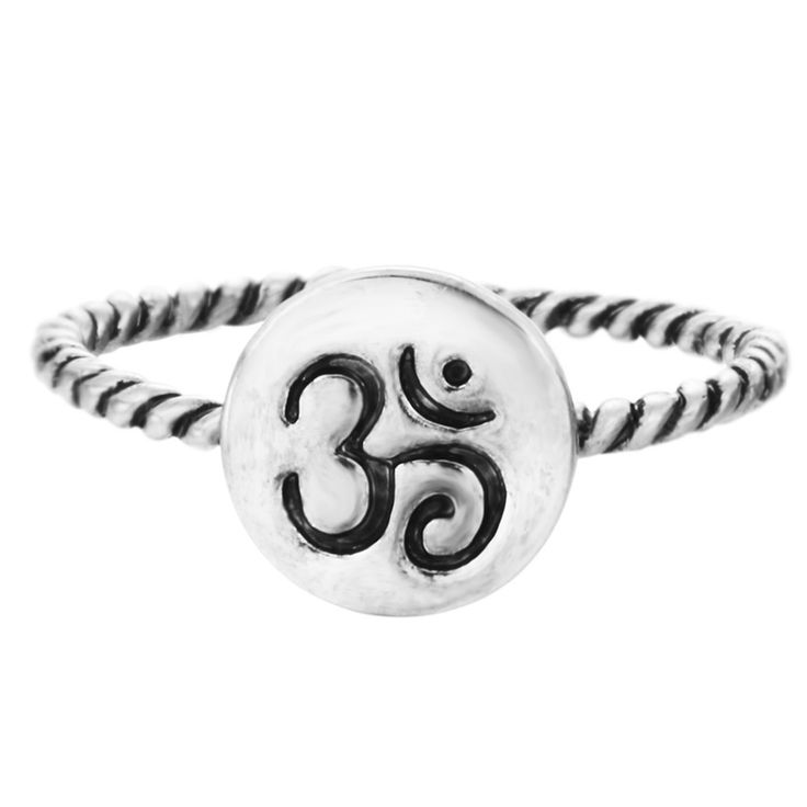 Kinitial 30Pcs Silver Om Ring Yoga Meditation Ring Stackable Rings Women Eco Friendly Man Jewelry Accessories Best Friends Anel