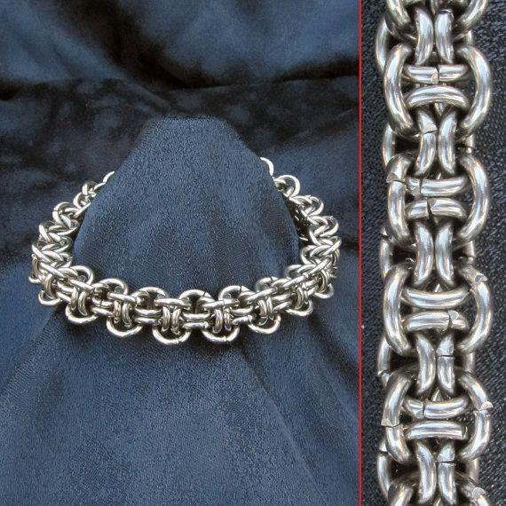 Bracelet - Steel - Hoodoo - Stainless Chainmaille. $50.00, via Etsy.