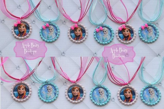 Frozen Birthday party Favor Anna Elsa by AppleBearyBowtique, $4.00