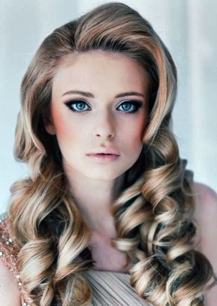 vintage hairstyles for long hair with bangs #prom hair
