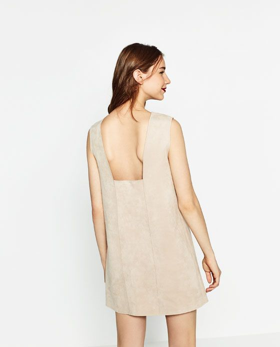 Image 3 of FAUX SUEDE DRESS from Zara