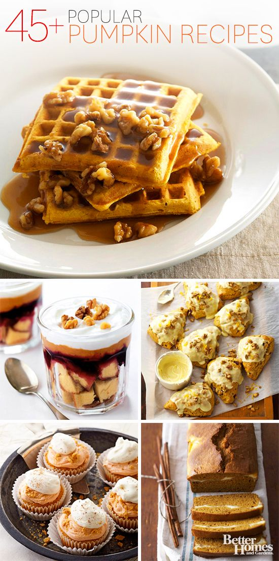 Tis the season for pumpkin recipes! Indulge in our favorites here: http://www.bhg.com/thanksgiving/recipes/pumpkin-recipes/?socsrc=bhgpin092813pumpkinrecipes