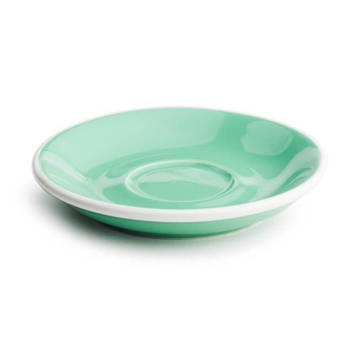 Acme saucers are made from heavy duty china and come in a range of colours.