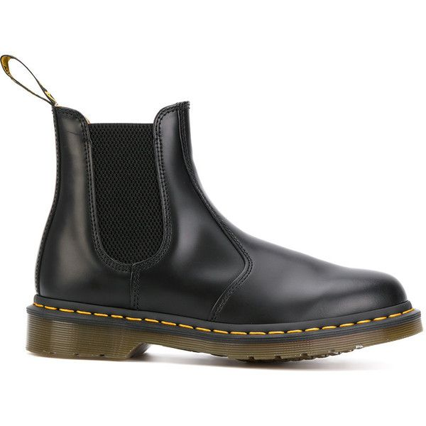 Dr. Martens Chelsea boots (€180) ❤ liked on Polyvore featuring shoes, boots, black, genuine leather boots, real leather boots, leather chelsea ankle boots, leather shoes and leather chelsea boots