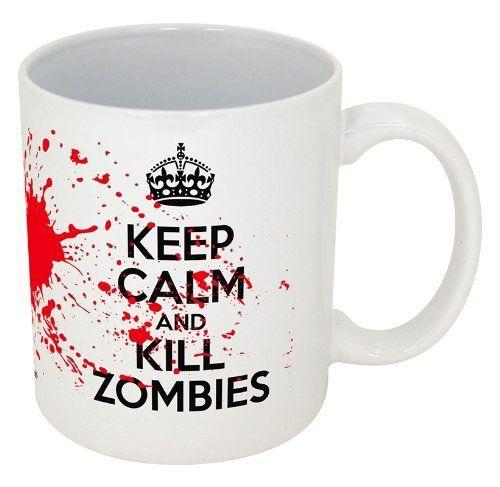 Keep Calm and Kill Zombies-- Funny Coffee Mug!! (11oz, White Kill Zombies) by Funny Guy Mugs, http://www.amazon.com/dp/B00A9WZGRG/ref=cm_sw_r_pi_dp_RcJBrb0ZFAZBF