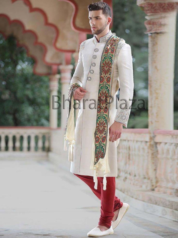 Ethnic Look Jamawar Sherwani