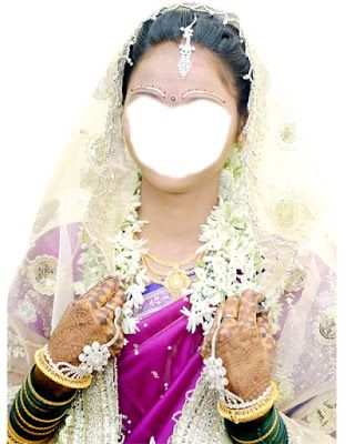 a girl covering from chunari Indian bride white pink dress psd free