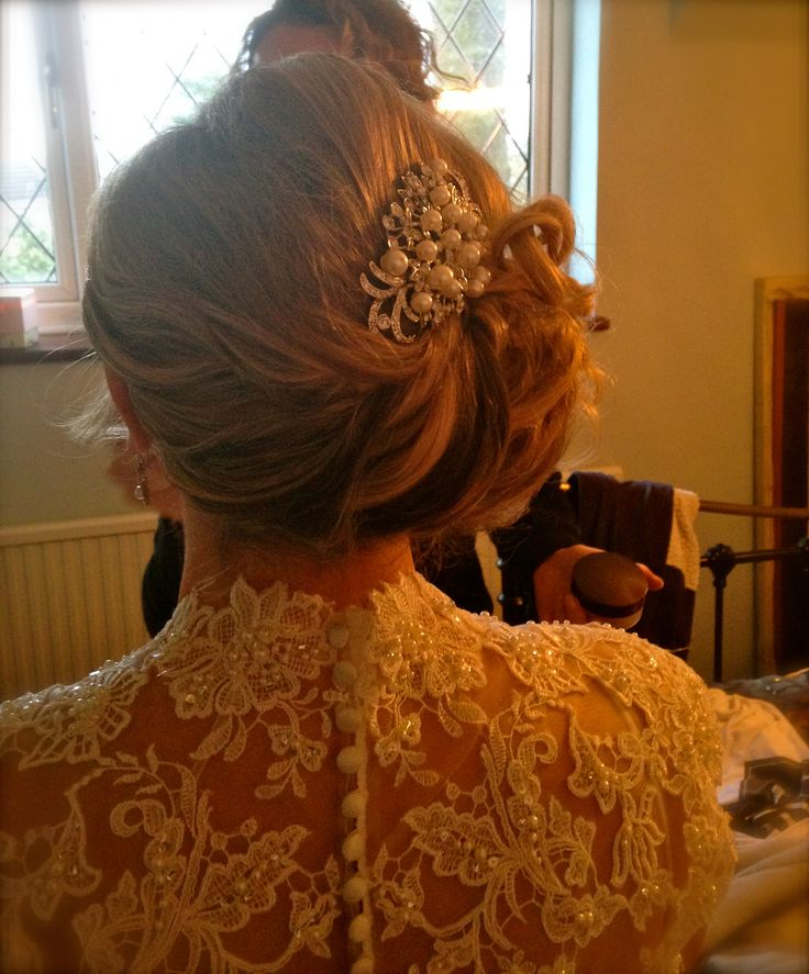 Back view of Bride Niki www.hairbynickymckenzie.co.uk
