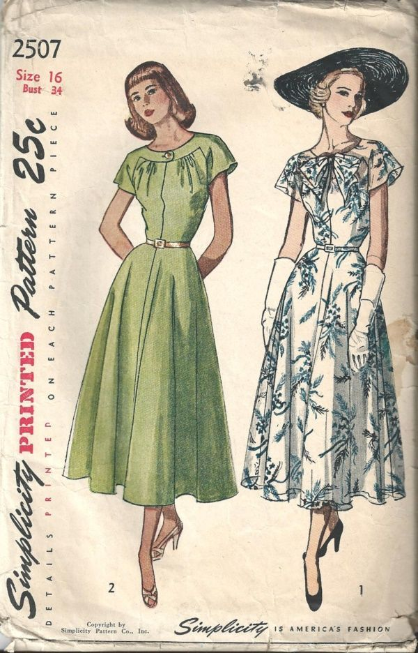 Sewing Retro Patterns Vintage Clothes Patterns Vintage Dress Patterns Simplicity Dress