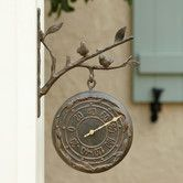 Found it at Wayfair - Bird Wall Clock & Thermometer