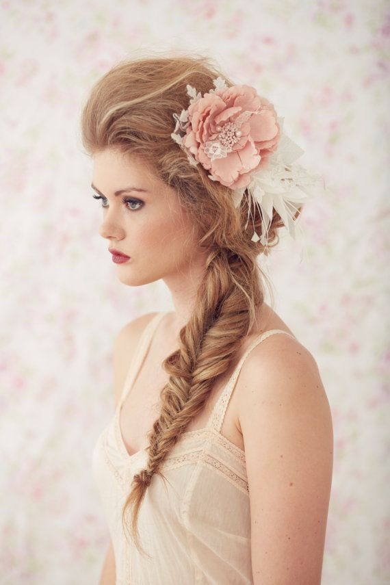 Leilani Headpiece Lace Hair Comb by BrideLaBoheme on Etsy