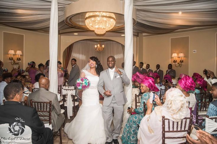Yusuf and Sieara, dancing down the aisle! 08/13/16.  Photos courtesy of Michael T. Davis Photography.